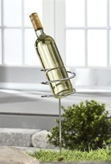 Iron Wine Bottle Holder Stake