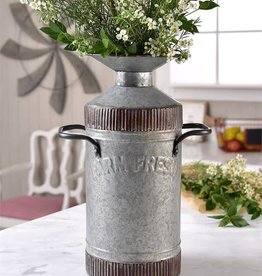 Farm Fresh Metal Vase