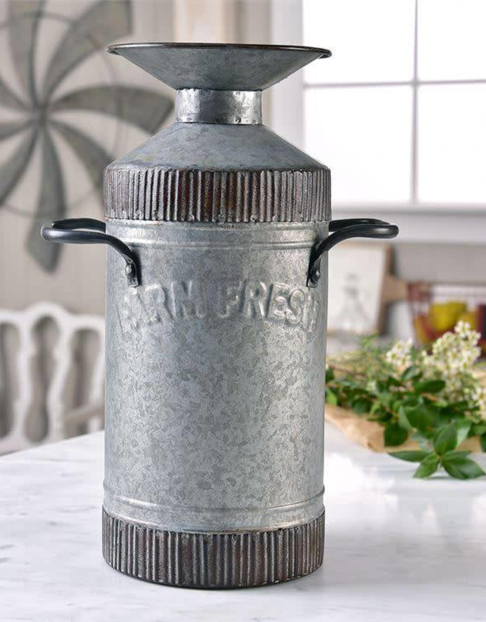 Farm Fresh Metal Vase
