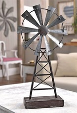 Table Decor - Metal Windmill On Base