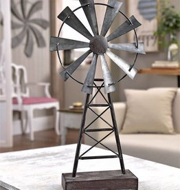 Table Decor - Metal Windmill