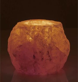 Rock Salt Candle Holder-Natural