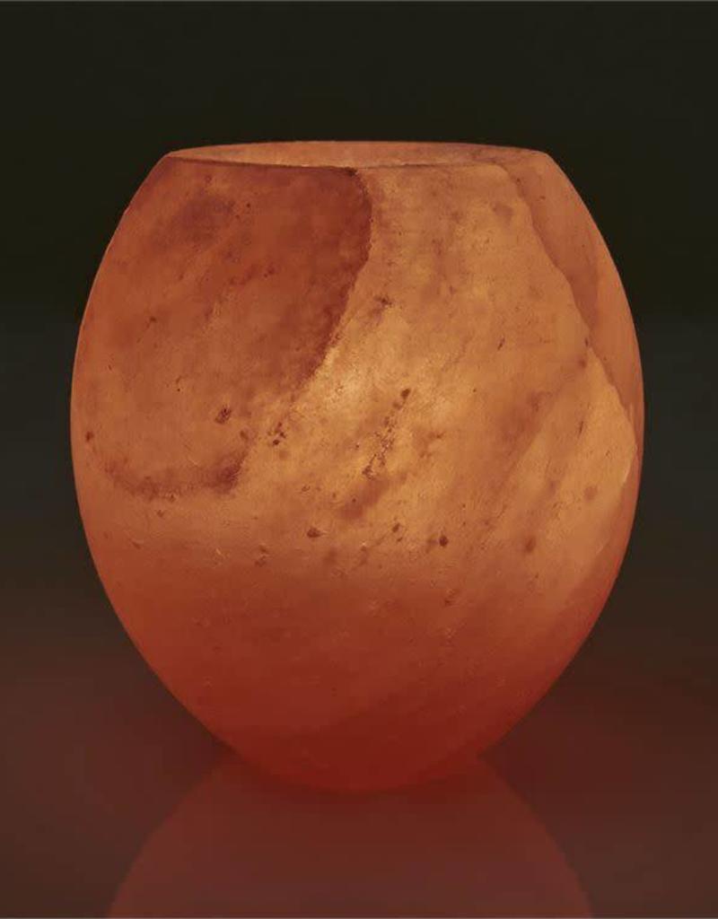 Rock Salt Candle Holder-Sphere