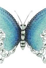 Iridescent Metal Wall Butterfly