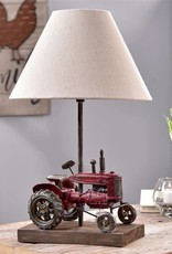 Antique Tractor Table Lamp W/Shade