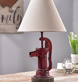 Water Pump Table Lamp W/Shade