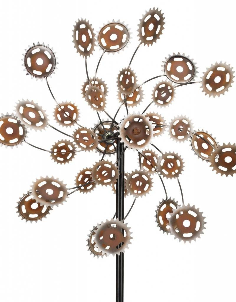 "26"" Rotating Kinetic Stake - Rustic Gears"