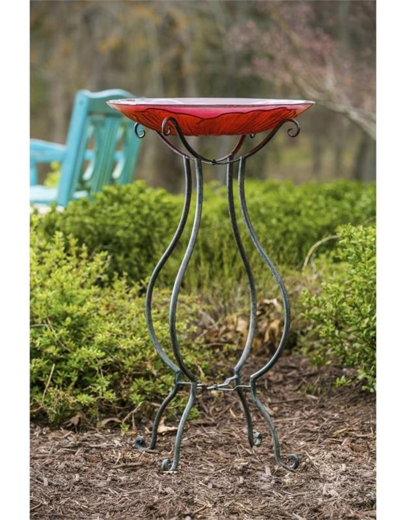 Bird Bath Stand - Scroll Style