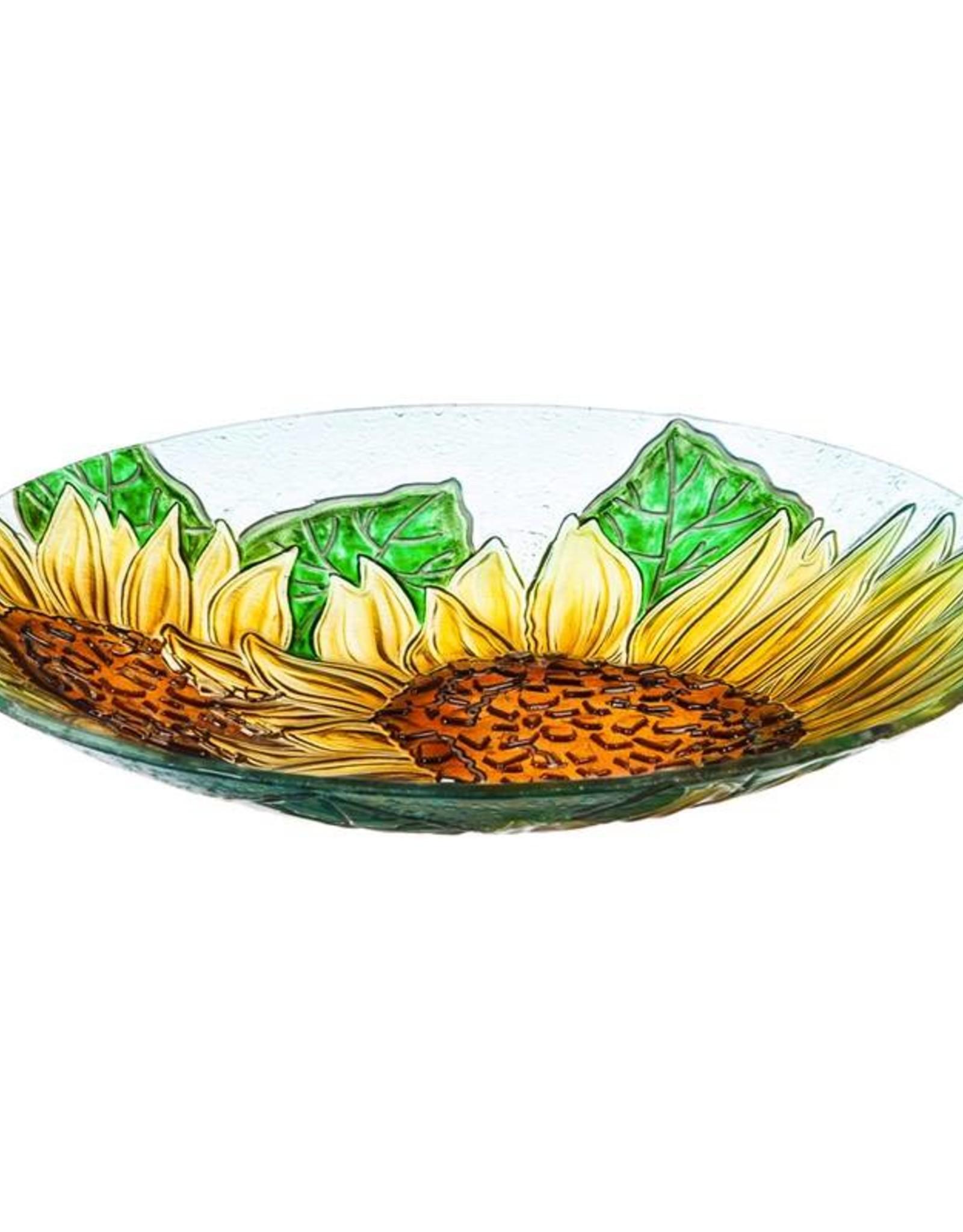 Bird Bath - Sunflowers