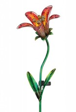 Solar Tiger Lily Stake - Red
