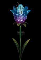 Solar Ruffled Tulip Stake - Blue