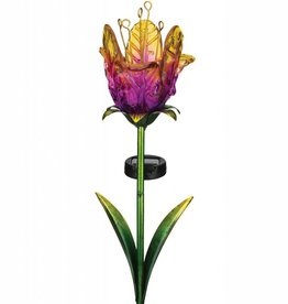 Solar Ruffled Tulip Stake - Purple