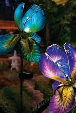 Solar Iris Stake - Blue