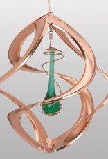 Copper Spinner with Green Teardrop