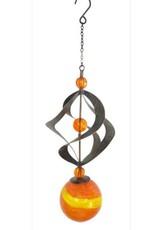 Wind Spinner - Glow In The Dark Orange Orb