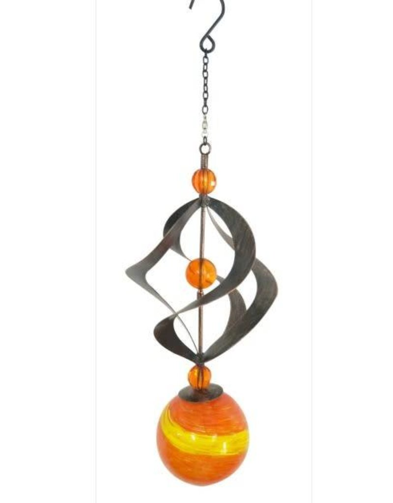 Wind Spinner - Glow In The Dark Orange Orb