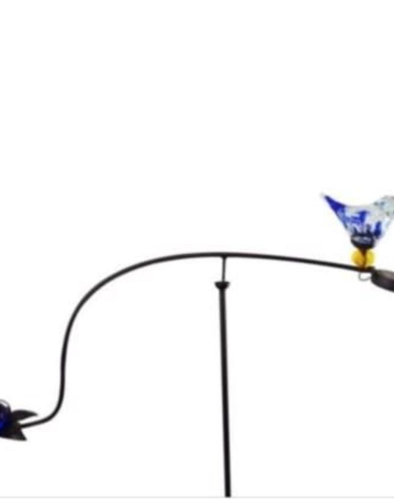 Solar Glass Blue Bird Balancer
