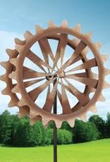 "26"" Rotating Kinetic Stake - Rustic Wheel"
