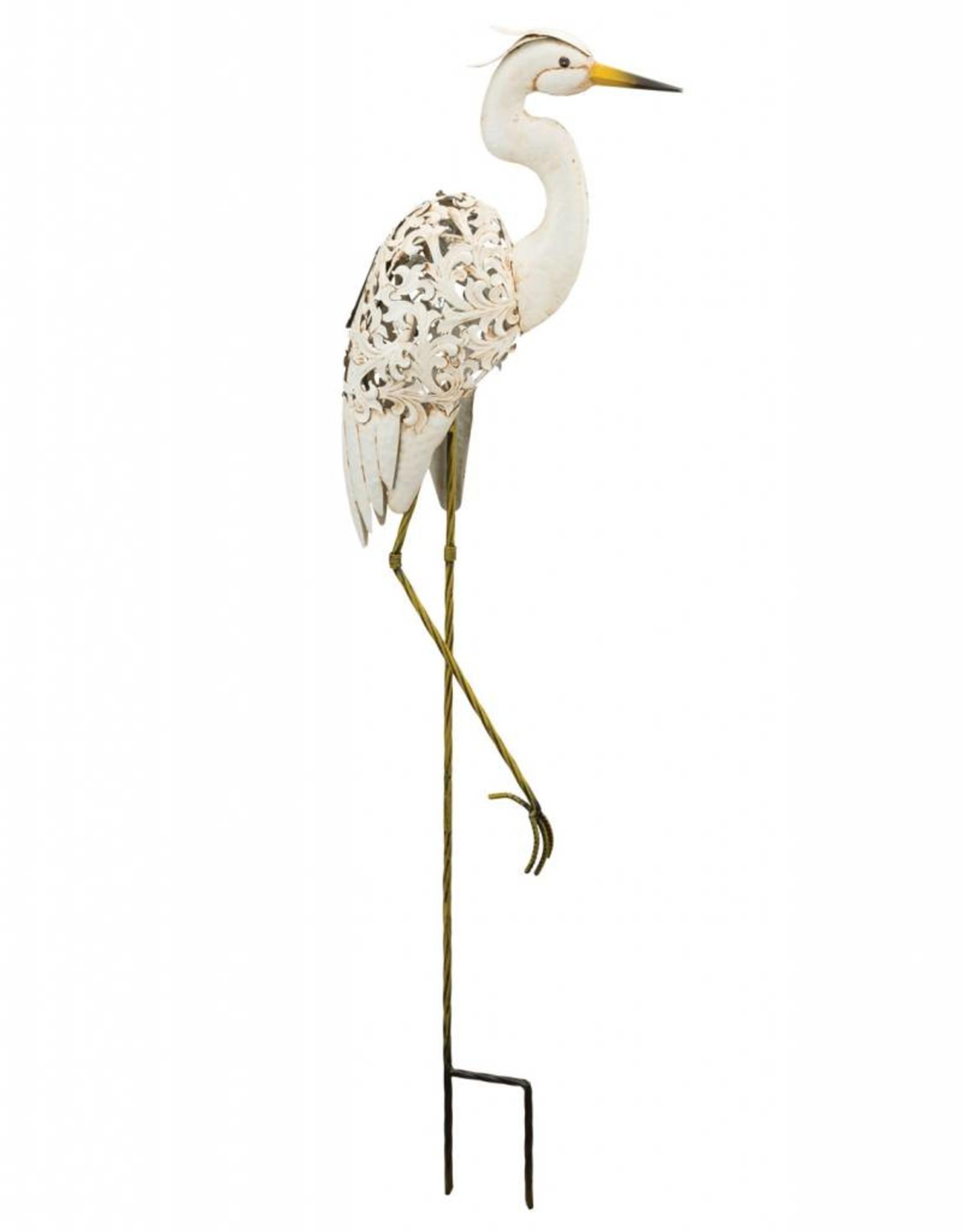 Solar Bird Stake - Egret