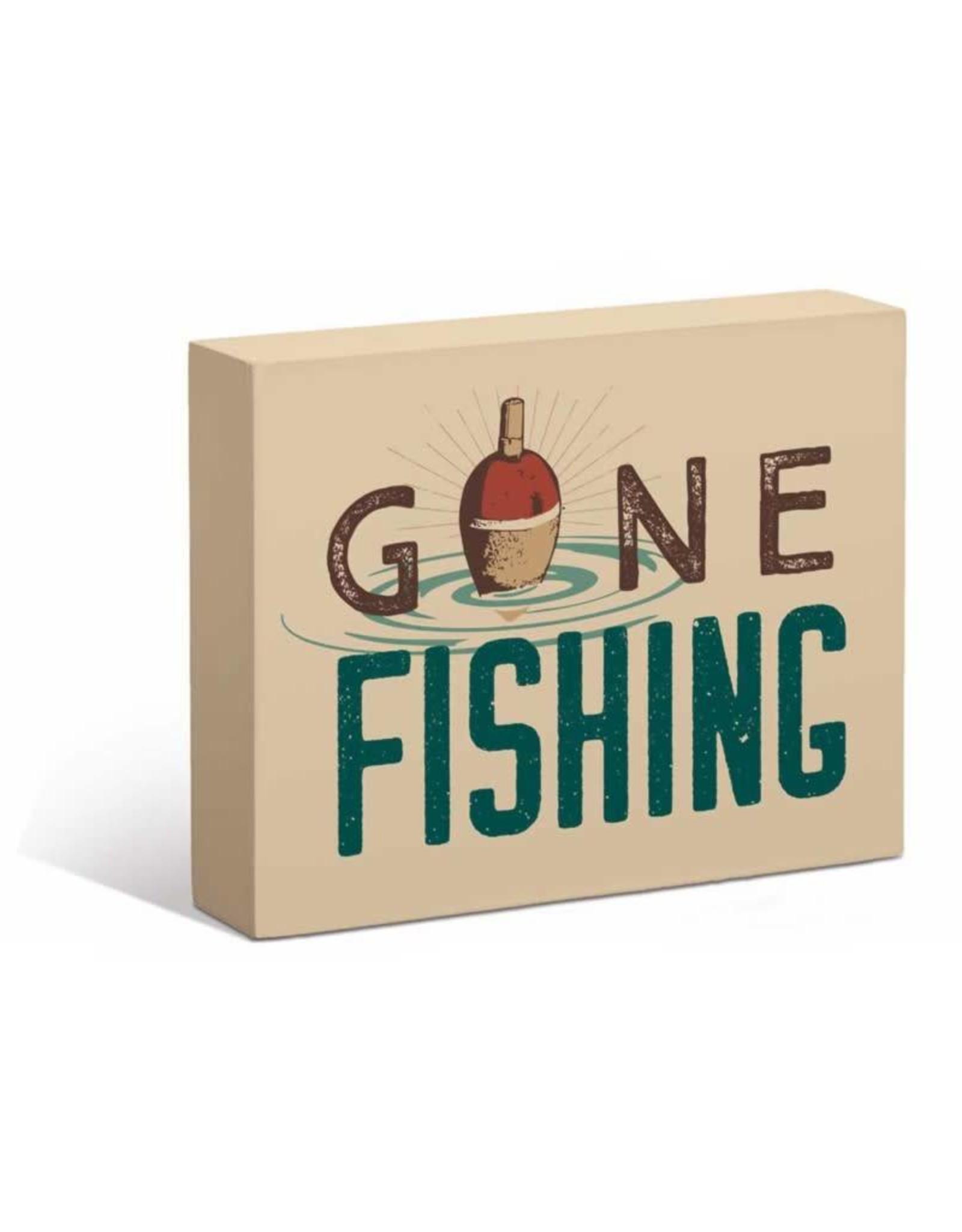 "Gone Fishing 7"" x 9"" Box Art Sign"