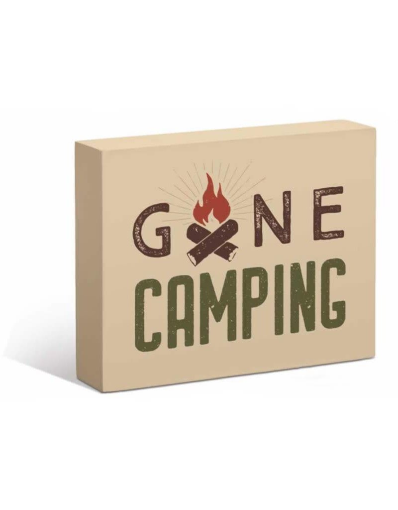 "Gone Camping 7"" x 9"" Box Art Sign"