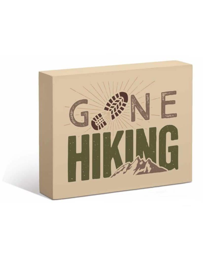 "Gone Hiking 7"" x 9"" Box Art Sign"
