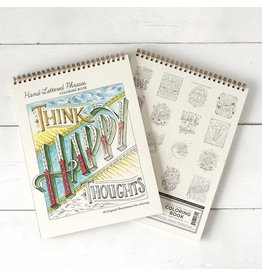 Think Happy Thoughts Adult Coloring Book