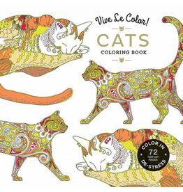 Vive Le Color! Cats Adult Coloring Book