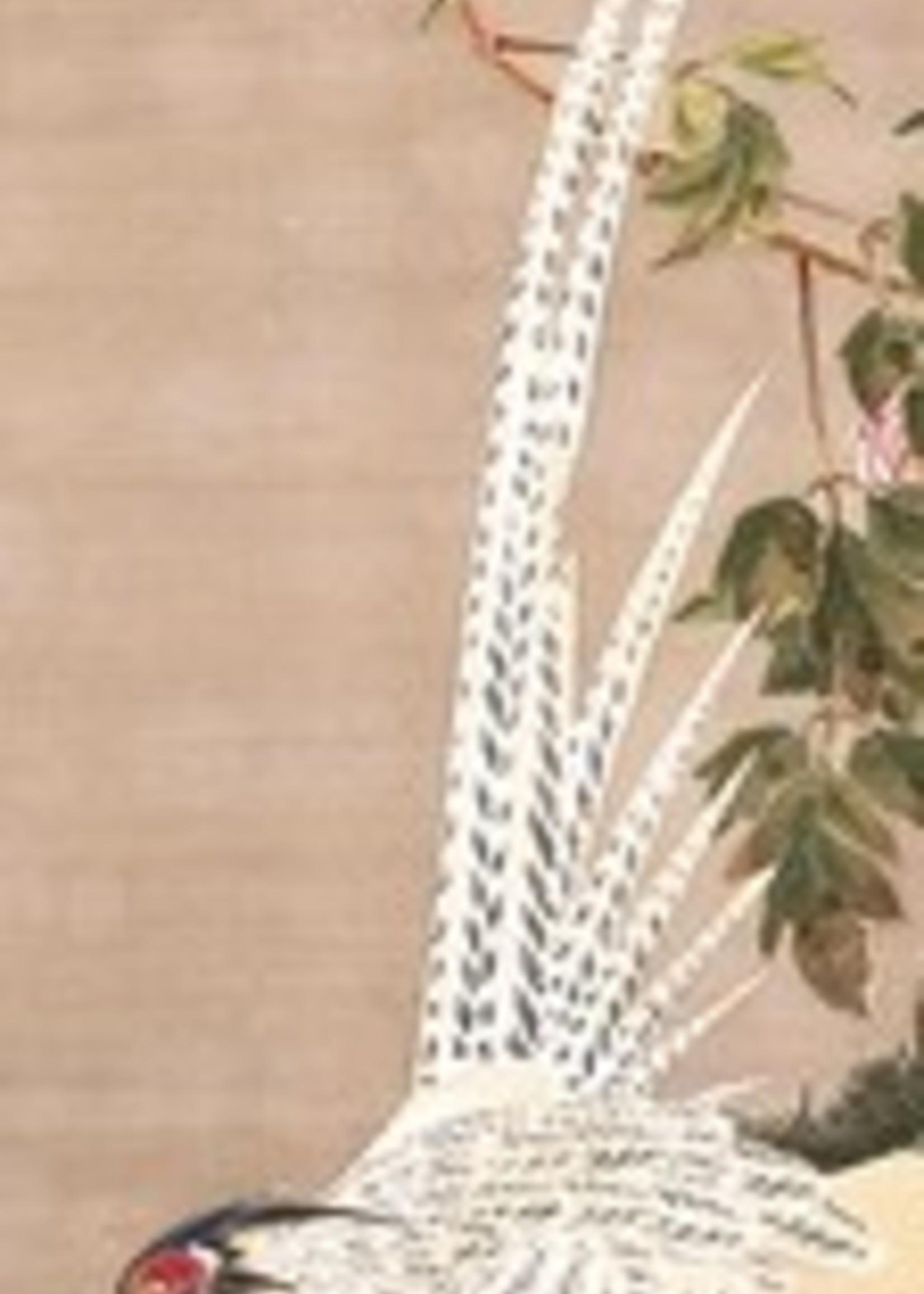 Silver Pheasant and Peonies Bookmark