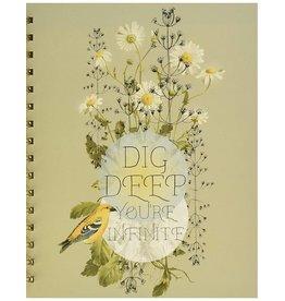 [DISCONTINUED] Dig Deep Daisy Spiral Journal
