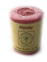 Money Votive Chakra Candle