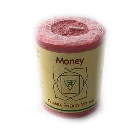 Money Votive Chakra Candle
