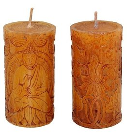 Brown Buddha Votive Candle