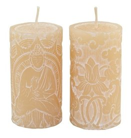 White Buddha Votive Candle