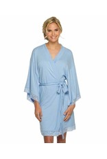 Light Blue Jersey Laced Robe