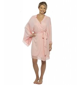 Pink Jersey Laced Robe