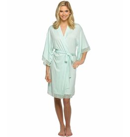 Mint Jersey Laced Robe