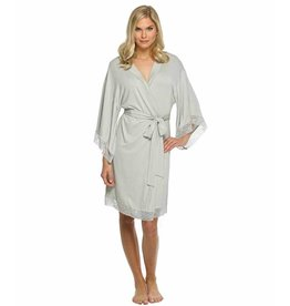 Grey Jersey Laced Robe