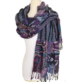 J&X Ruffle Pashmina Shawl Native PU