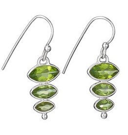 Stacked Marquis Peridot Earrings