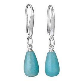 Simple Amazonite Bead Earrings