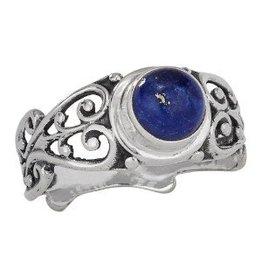 Scroll Lapis Lazuli Ring
