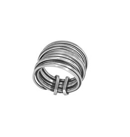 Multi Band Wire Wrap Ring