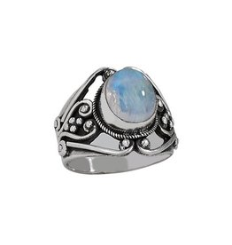 Filigree Moonstone Ring