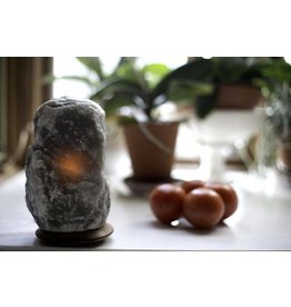 Rare Grey Himalayan Salt Lamp
