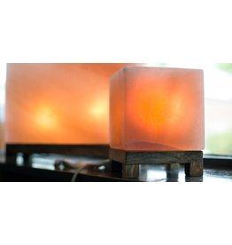 Cubed Amber Himalayan Salt Lamp