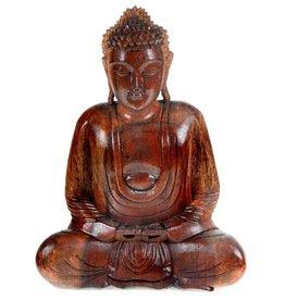 Sitting Buddha Wood Statue