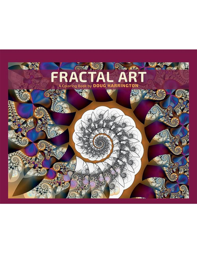 Fractal Art Adult Coloring Book