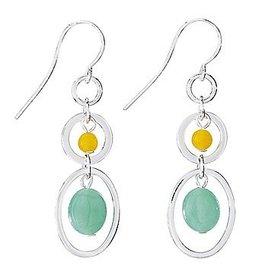 Dangle Honey Jade Earrings