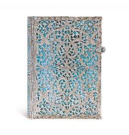 Silver Filigree Collection Maya Blue Midi Journal
